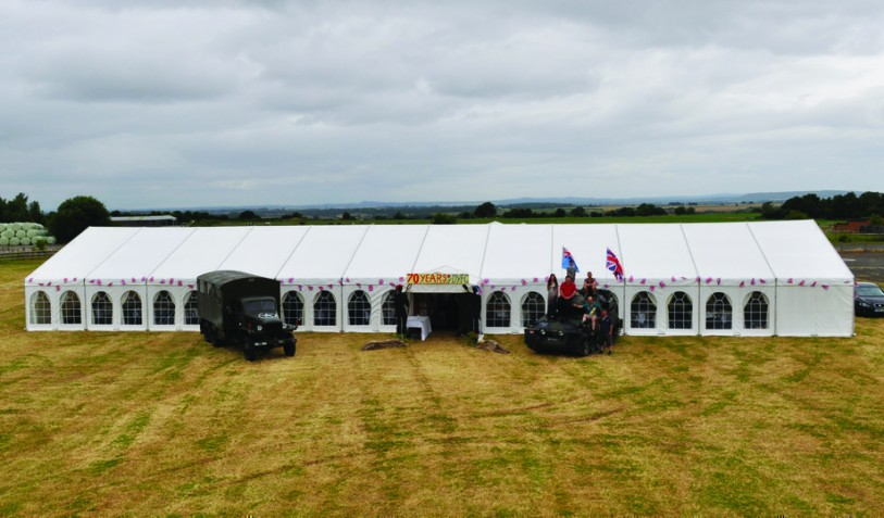 2014 Dorrington YFC 70th Anniversary Ball Marquee 12 x 30m with a 9 x 18m dance marquee to the rear
